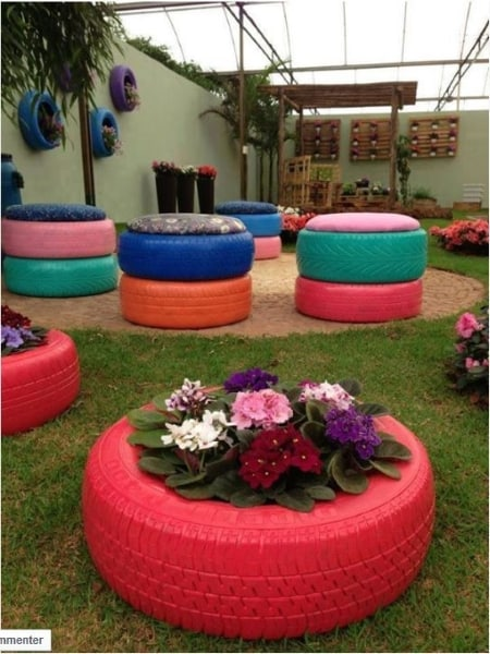 20 Ingenious DIY Tire Projects That You Can Add To Your Garden And Home Decor 11