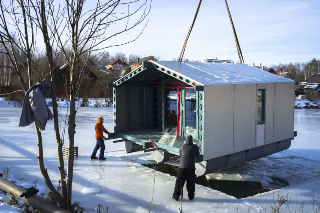 DD16 The Floating Cabin By BIO architects That Can Withstand Russias Harsh Winters 15