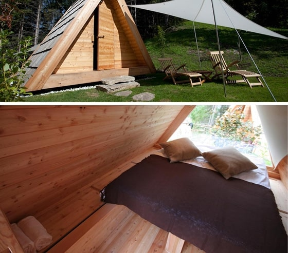 Gozdne Vile Glamping Huts Offering Tranquility in a Small Form Factor 5