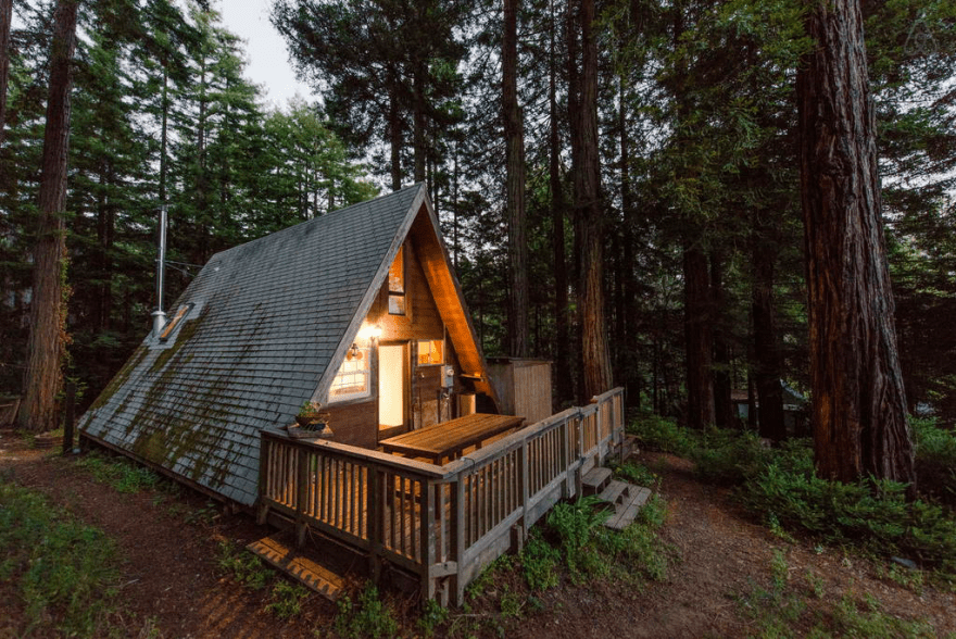 Redwoods A Frame Tiny House Amazes Guests Around the Globe 12