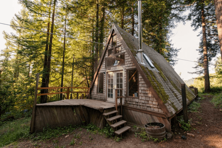 Redwoods A-Frame Tiny House Amazes Guests Around the Globe ...