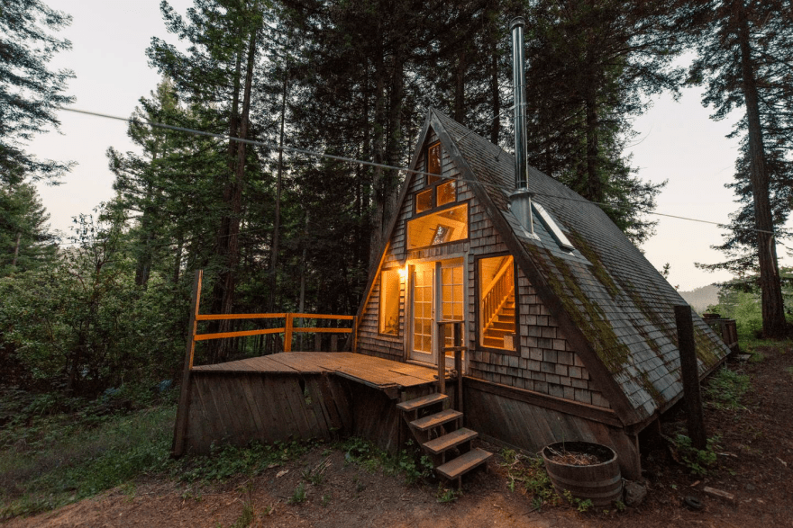 Redwoods A Frame Tiny House Amazes Guests Around the Globe 14