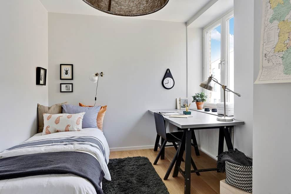 2. Whitewashed Scandinavian Home ... & 20 Irresistible Scandinavian Home Offices That Will Boost Your ...