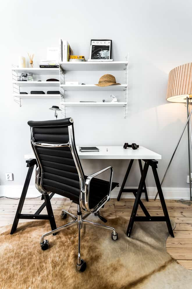 Black And White Contrasts In The Office Are Typical For Scandinavian Style
