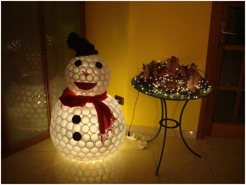 Learn How to Make a Snowman Out of Plastic Cups Swiftly