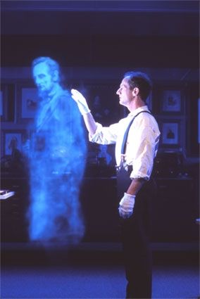 51. CREATE A GHOST ILLUSION FOR YOUR HAUNTED HOUSE
