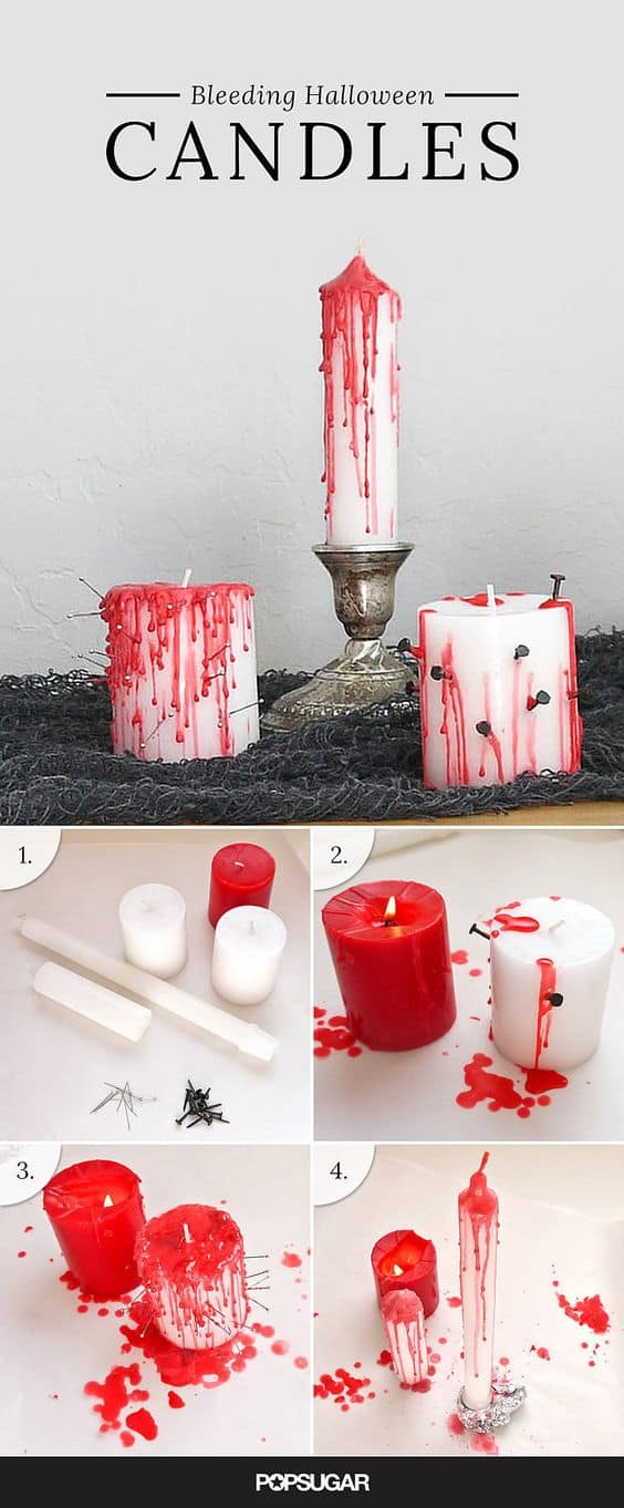 3. BLEEDING HALLOWEEN CANDLES