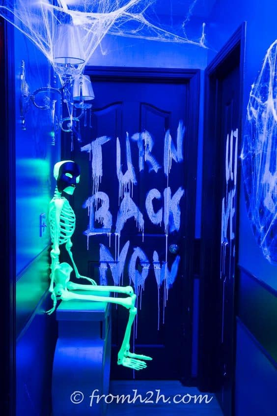 59. GLOW-IN-THE-DARK HALLOWEEN DECORATIONS