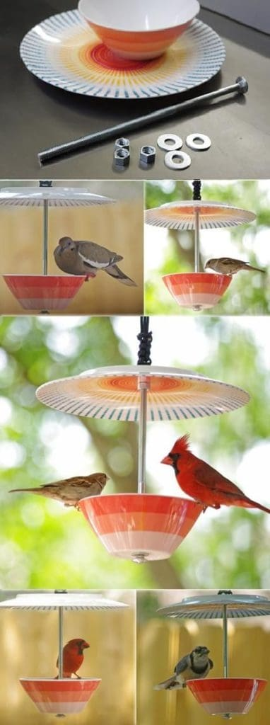CUP AND SAUCER DIY BIRD FEEDER