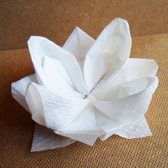 paper napkin folding instructions