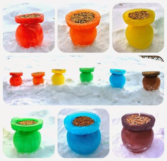 RAINBOW ICE BIRD FEEDERS