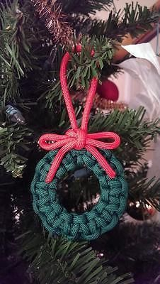 CHRISTMAS WREATH PARACORD TREE DECORATION