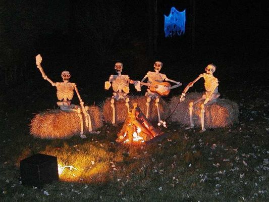 82. SKELETONS ENJOYING THE CAMPFIRE