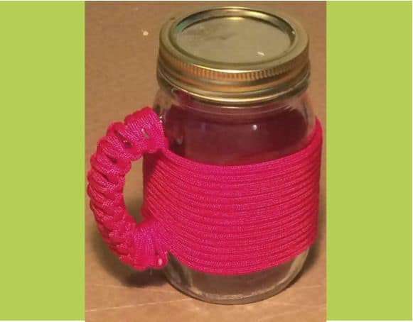 PARACORD WRAPPED MASON JAR