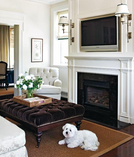 Place The Tv Over Fireplace Make Sure To Clean It Regularly Or Else Smoke Could Create A Hazy Film Set Hindering Your Television
