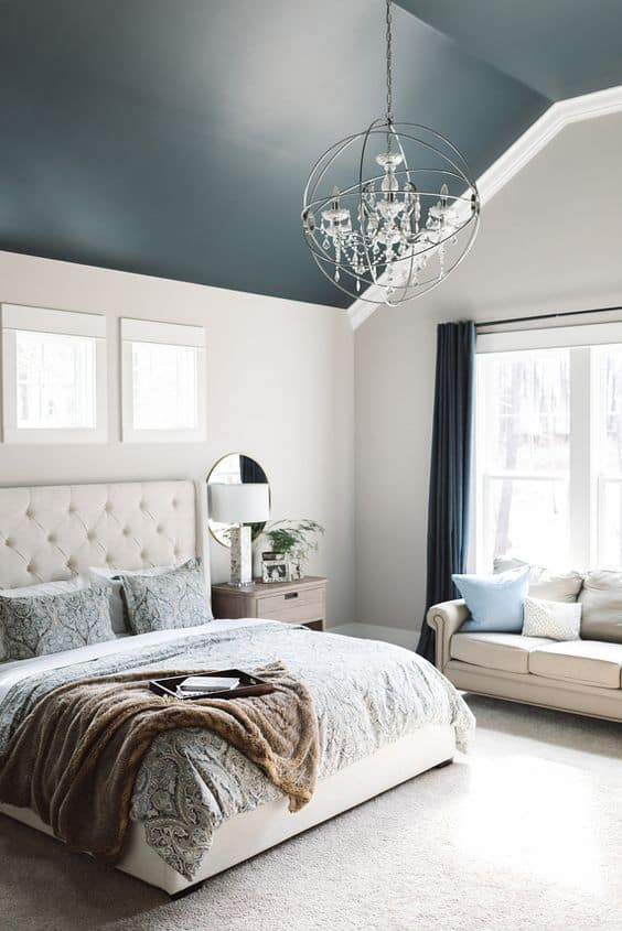 gray blue coved ceilings