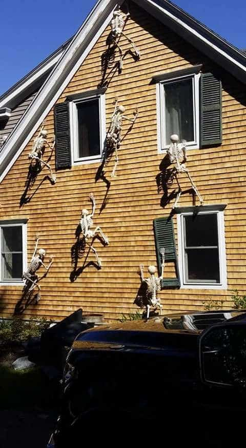 15. SKELETONS CLIMBING THE HOUSE
