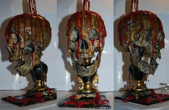 71. BLOODY SKULL CANDLE LAMP