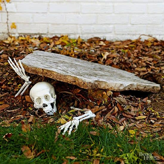 107. SKELETON DIGGING OUT OF A GRAVE