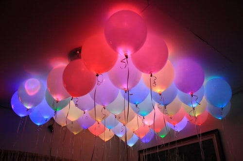 5. GLOW IN THE DARK BALLOONS