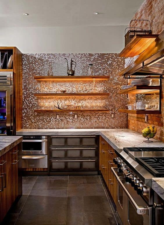Penny Backsplash Set
