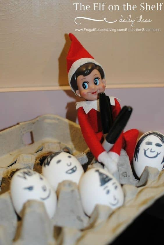 128. Elfie paints the Eggs