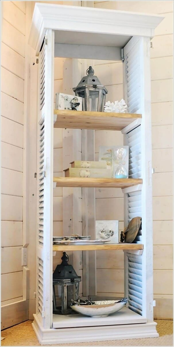 10 Clever Ideas to Build Furniture with Old Shutters 1