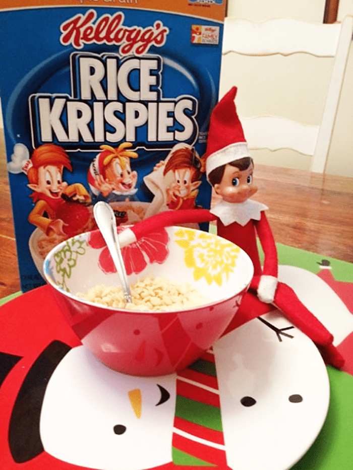121. Elfie eating his Bowl of Cereal