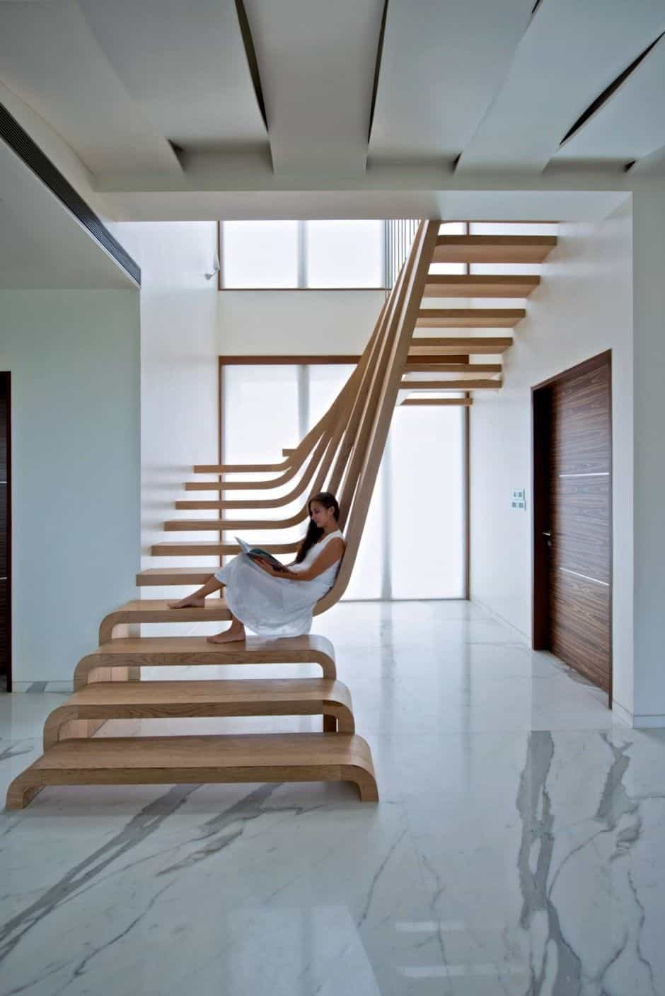 easy modern stairs design indoor. Source 10 Eye Catching Staircase Designs That Will Fascinate You
