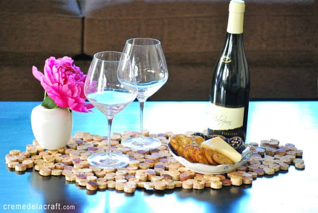 1438793711 diy project tutorial wine cork upcycle table setting placemat runner