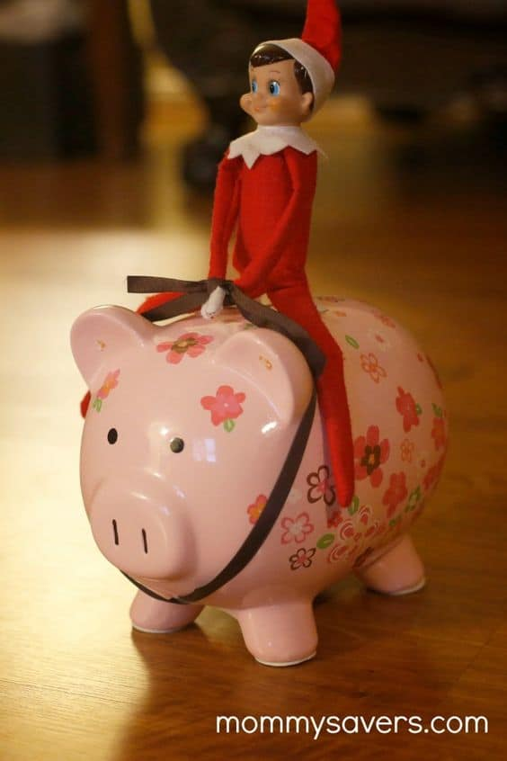 102. Elfie tries his hand at Piggy Bank Riding