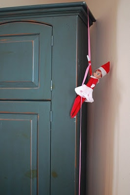 110. Elfie climbing the Wardrobe