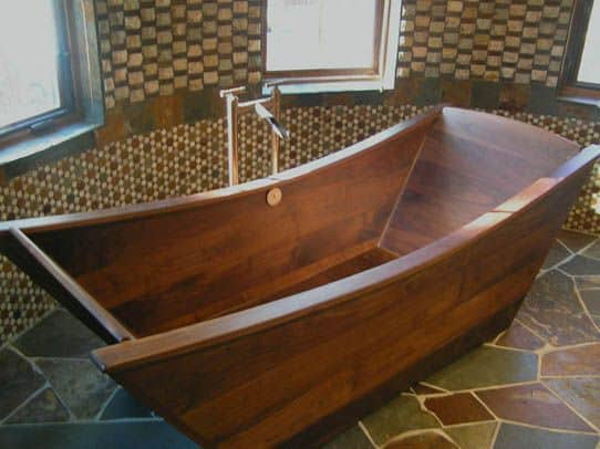 35 Super Epic Wooden Bathtub Design Ideas to Consider - Homesthetics ...