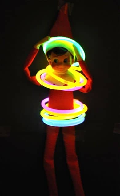 50. Elfie and his Glowing Hula Hoops