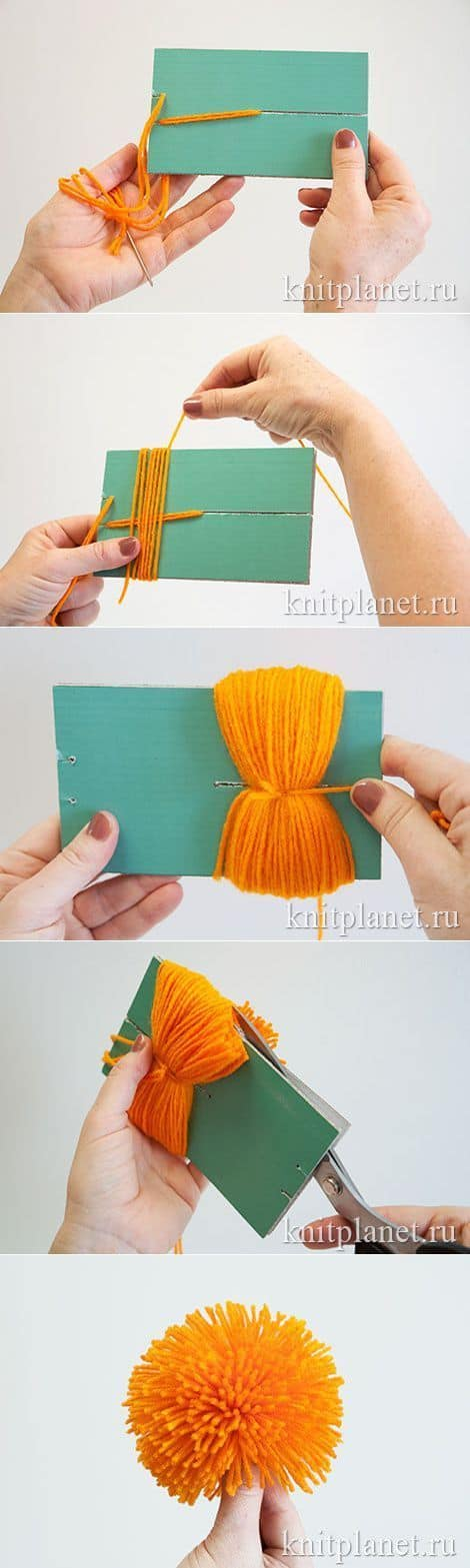 36. CARDBOARD TO POM POM TECHNIQUE