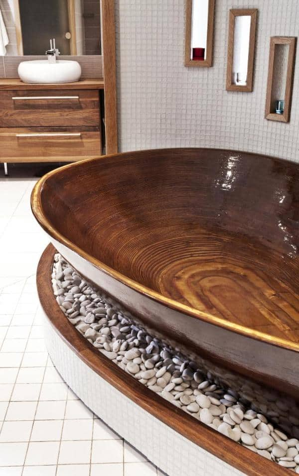 Delicieux 35 Super Epic Wooden Bathtub Design Ideas To Consider   Homesthetics    Inspiring Ideas For Your Home.
