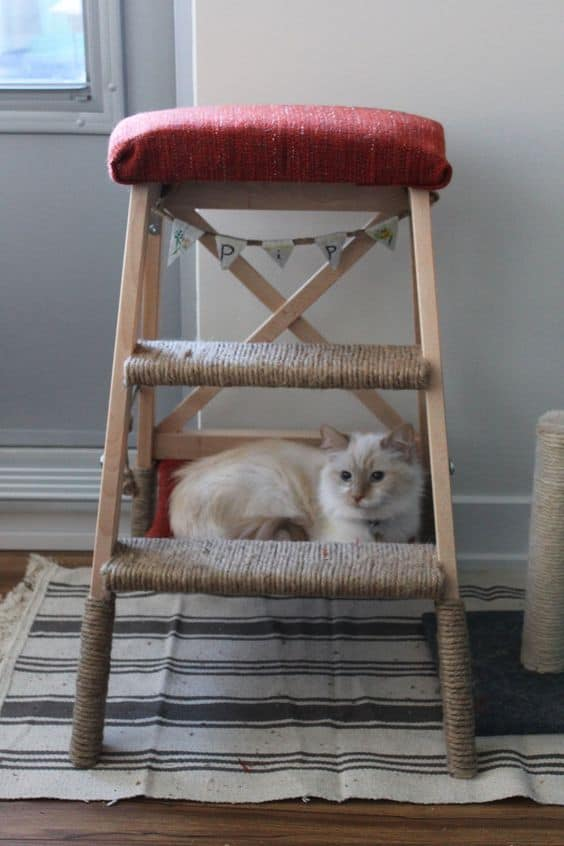 26. TRANSFORM A SMALL IKEA STEPPER STOOL INTO A CAT SUITE