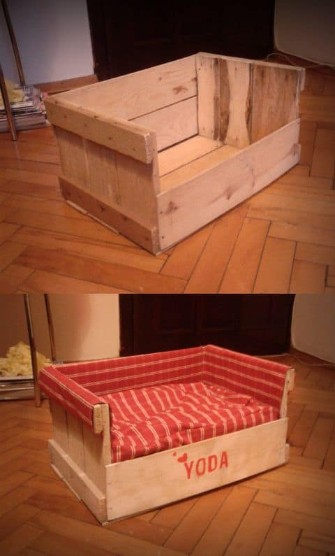 8. DIY WOODEN BOX CAT BED