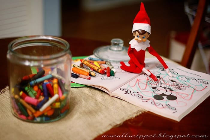 119.Elfie goes bonkers with the Coloring Book