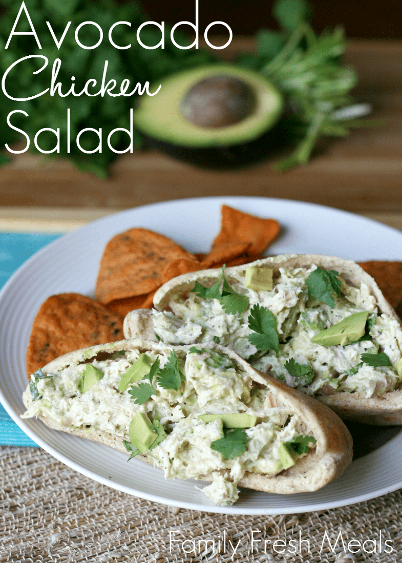 76. HEALTHY AVOCADO CHICKEN SALAD