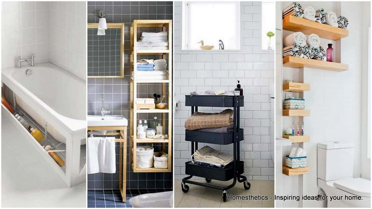 20 Smart Bathroom Storage Ideas That Will Impress You & 20 Smart Bathroom Storage Ideas That Will Impress You - Homesthetics ...