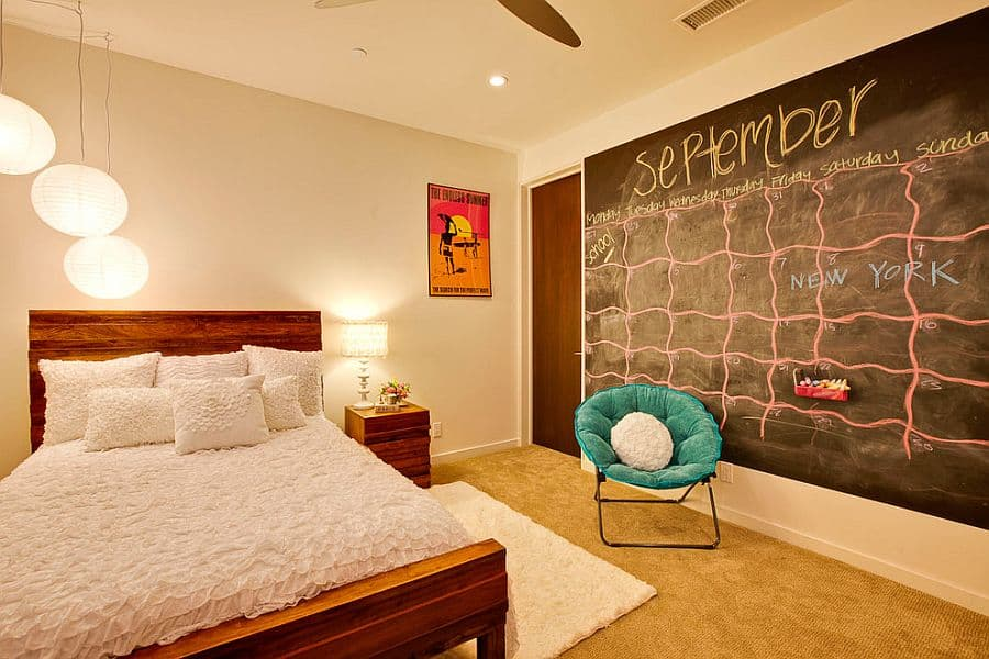Chalkboard wall idea that helps keep your life more orgnaized