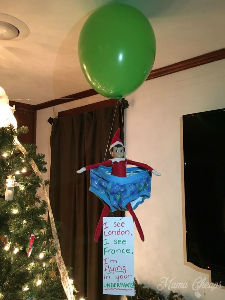 1.The Floating Elf on the Shelf 137 Magical Elf on the Shelf Ideas That You`ll Love