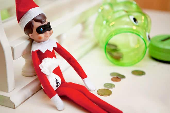 3. Elfie just Robbed the Piggy Bank!