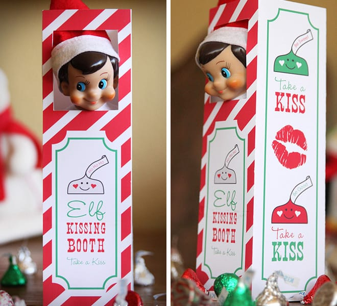 graphic regarding Elf on the Shelf Kissing Booth Free Printable identified as 137 Magical Elf upon the Shelf Suggestions That Yourself`ll Enjoy