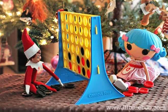 8.Playing Connect Four with his Buddy