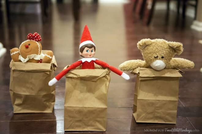 59.Elfie and his Buddies have a Sack Race