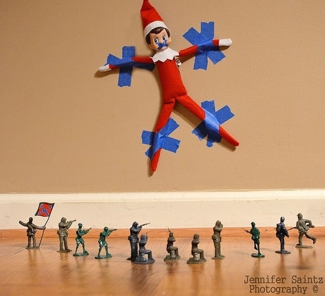 62. Elfie captured by the Army