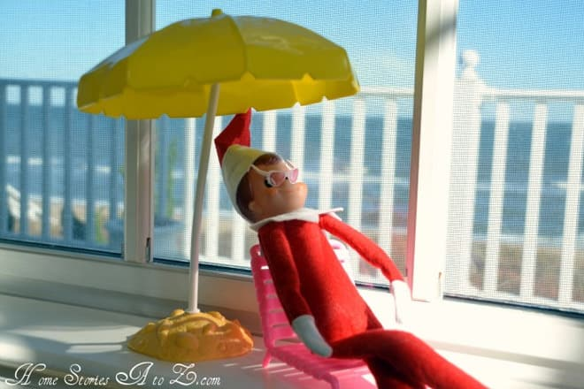 7. Elfie Chilling Outdoors