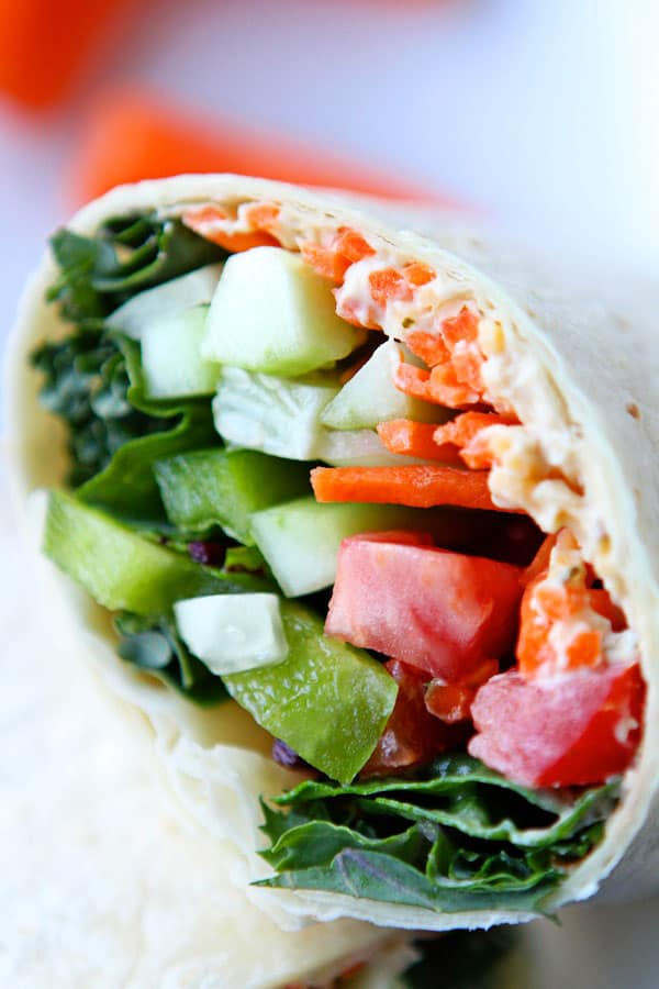 111. BRILLIANT HUMMUS AND VEGGIE WRAPS